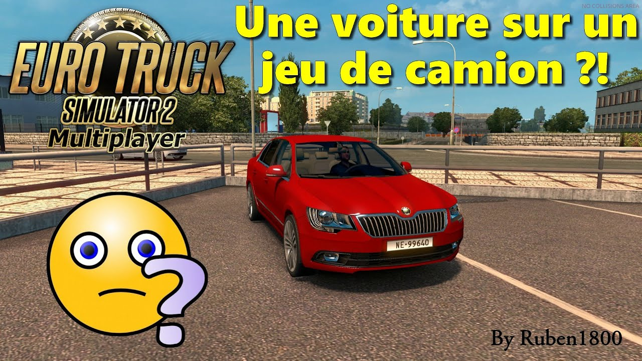 euro truck simulator 2 multiplayer une voiture sur un jeu de camion scout extra d skoda. Black Bedroom Furniture Sets. Home Design Ideas
