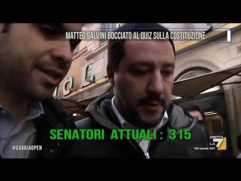 Matteo Salvini bocciato al quiz sulla Costituzione