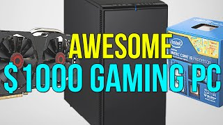 AWESOME $1000 Gaming PC 2015 Runs GTA V, The Witcher 3 at 1080p 60FPS!
