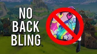 HOW TO TAKE OFF BACK BLING/SKINS IN FORTNITE!