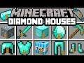 Minecraft DIAMOND HOUSES MOD! | LIVE INSIDE DIAMOND BLOCK, SWORD, HOUSE, & MORE! | Modded Mini-Game