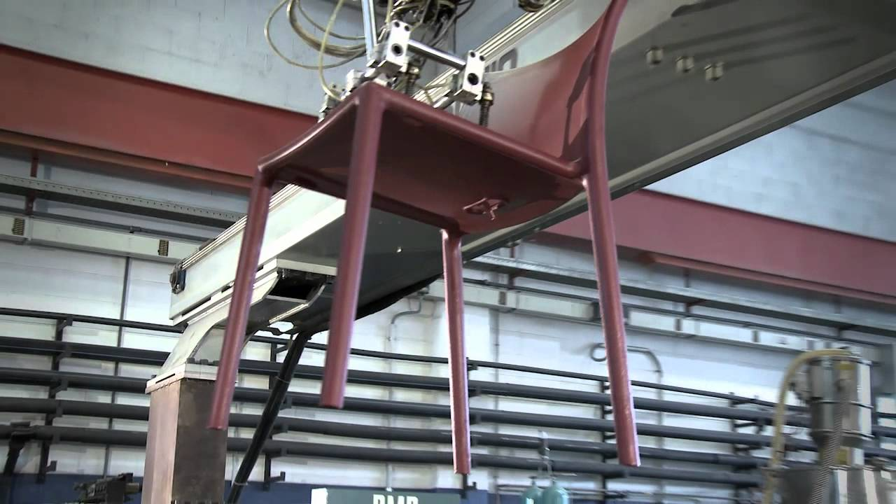 Steel Chair Manufacturing Process Glider Kijiji Magis Air Production Youtube