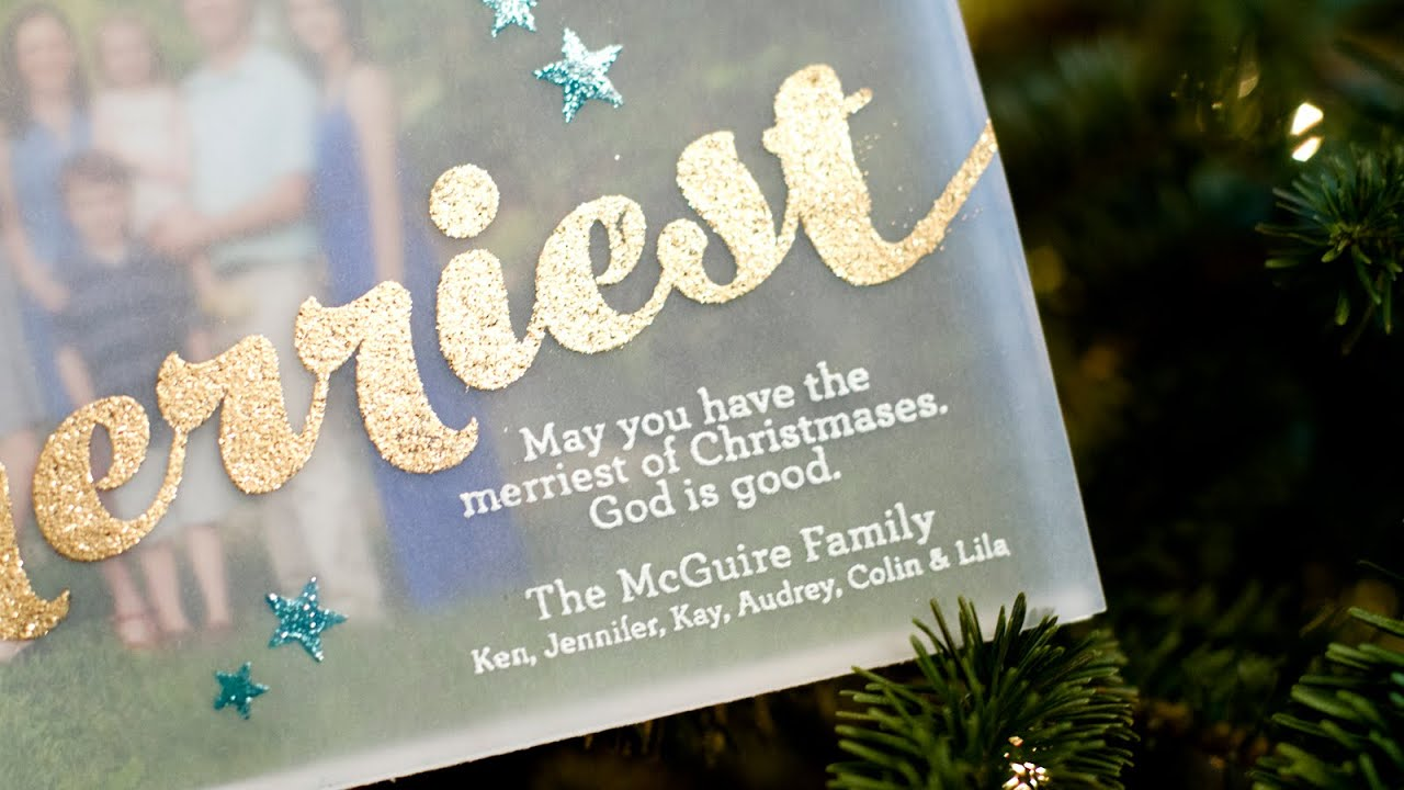 Vellum Photo Christmas Card - YouTube