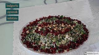 Bulgurlu Ispanak Salatası - Hülya Ketenci - Salata tarifleri