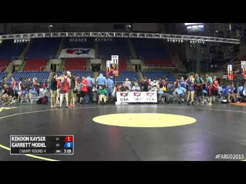 138 Champ. Round 4  Garrett Model Wisconsin vs. Kendon Kayser Louisiana