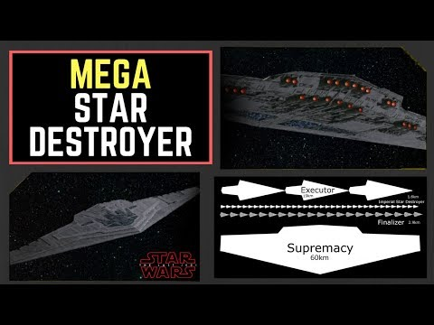 "Snoke's new 60km Mega Star Destroyer Revealed - ""The Supremacy""! Star Wars: The Last Jedi News!"