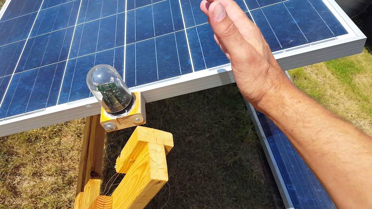 Homemade solar tracker - YouTube