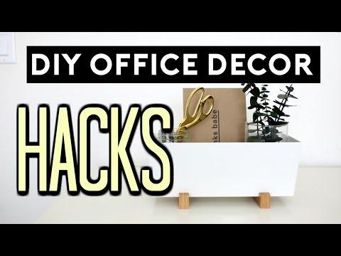 Superbe DIY Office Decor Hacks | DIY ROOM DECOR EASY U0026 CHEAP