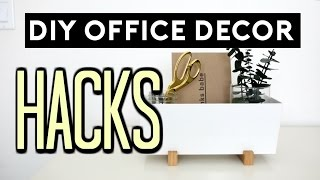 DIY Office Decor Hacks | DIY ROOM DECOR EASY & CHEAP