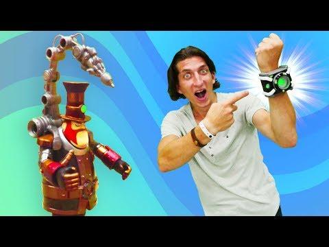 Бен 10 РАСПАКОВКА - часы омнитрикс - игрушки для мальчиков