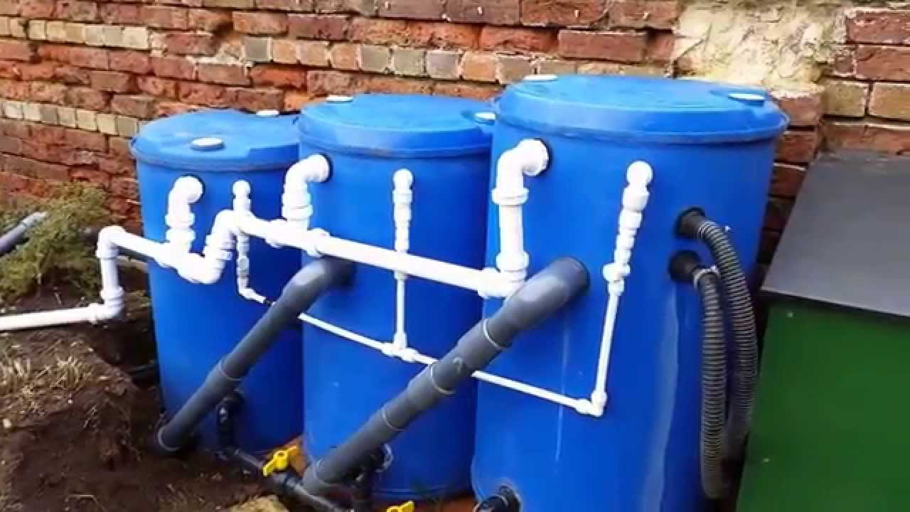 Diy pond filter adding k1 micro video 4 youtube for Pond filter system diy