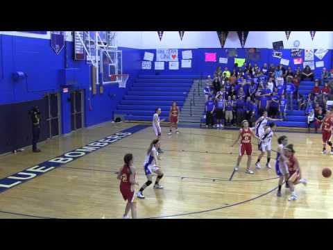 2012-13 Palmerton Blue Bombers girls basketball team vs Moravian Academy 02 14 2013
