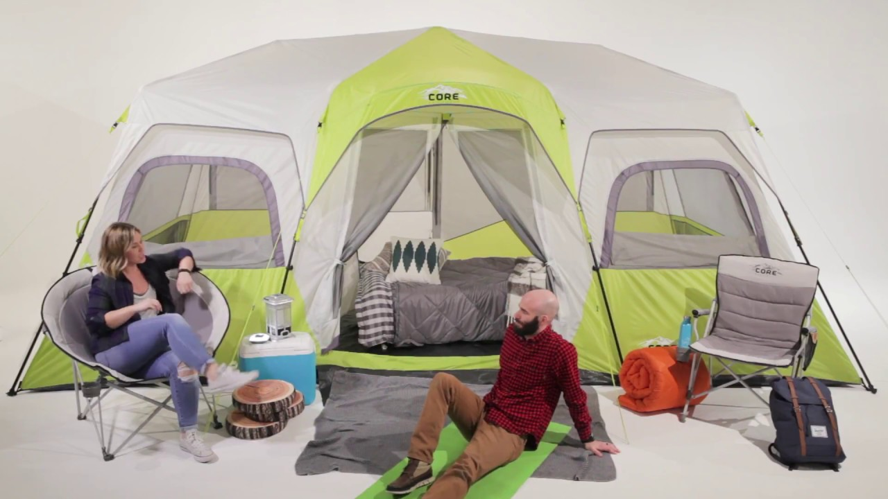 01010546db2 Core Equipment 12 Person Instant Cabin Tent - YouTube