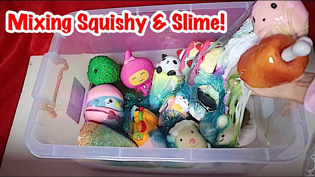 Squishy Dan Slime : WOOOW MIXING SQUISHY & SLIME IN THE BOX - NYAMPURIN REMAS2 SQUISHY DAN SLIME DALAM 1 BOX GEDE ...