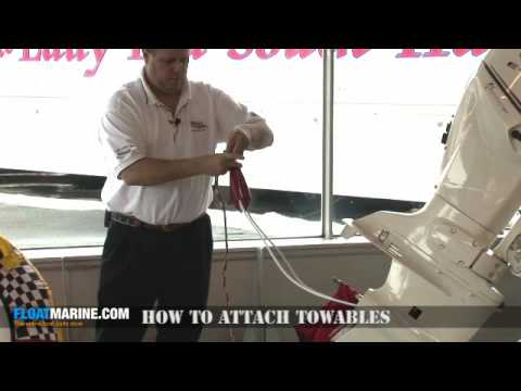 How to tow a tube behind a boat