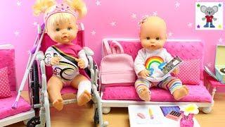 Bebés Nenuco HERMANITAS TRAVIESAS Naia se tuerce un pie en clase de GIMNASIA RÍTMICA