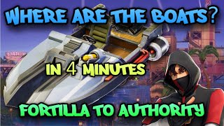 Fortnite Chapter 2 Motor Boat Spawns Fortnite Where Are The Boats Drive Boat From Fortilla To The Authority In Less Than 4 Minutes Youtube