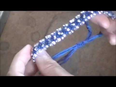 Diy Jewellery 8 Strand Macrame Bracelet Beads Youtube
