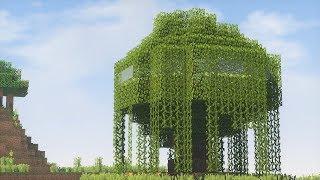 майнкрафт як зробити великий будинок на дереві