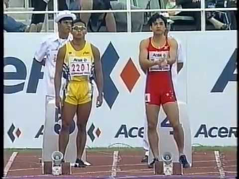 Watson Nyambek 10.20s (100m Semi-Finals 1998 Asian Games, Ba