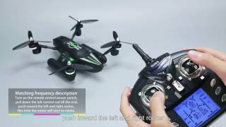 WLtoys Q353 2.4G Aeroamphibious Drone Air Land Sea Mode 3 in 1 RC Quadcopter - Black