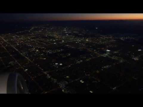 Miami-to-Houston (IAH) evening flight: takeoff 8R, night landing on 27 2014-03-03