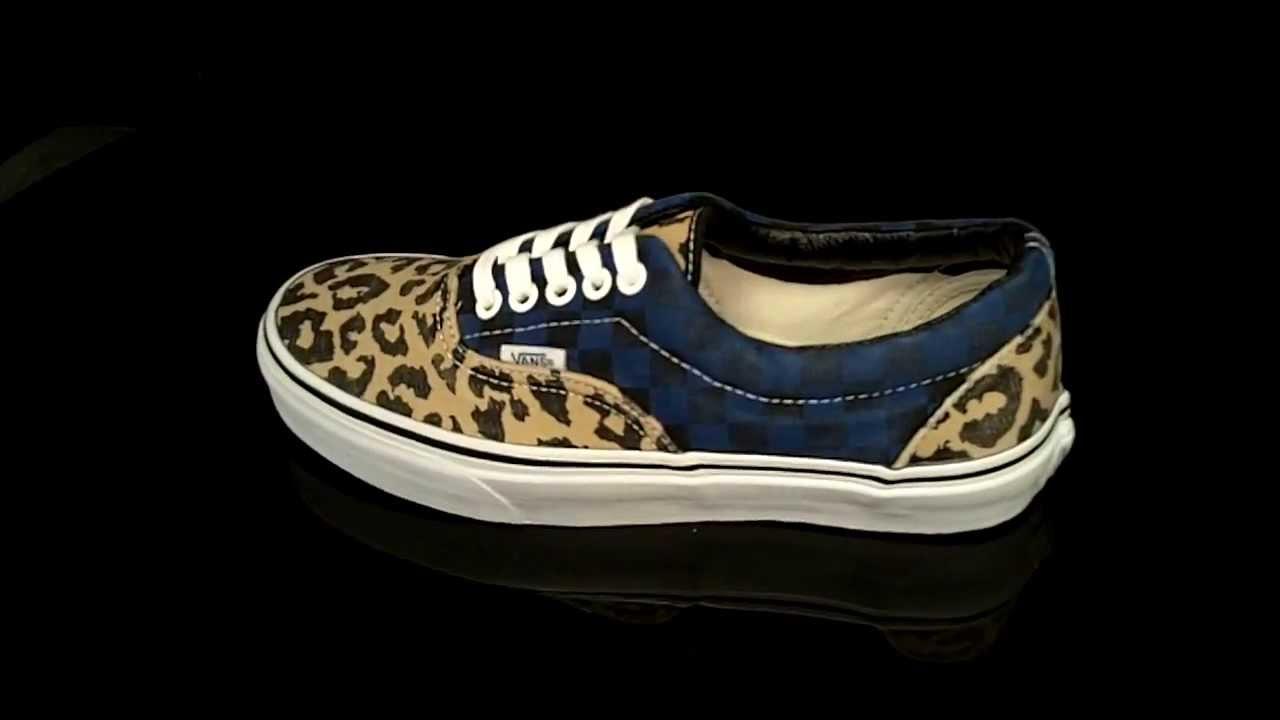 f0a882a08f Vans ERA Leopard Checker sneaker Van Doren VTN98XH - YouTube