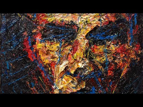 Original oil painting art impressionism realism portrait abstract face - x1226