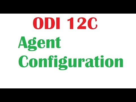 Oracle Data Integrator 12c Standalone Agent Configuration
