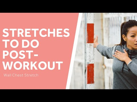 The Best Post-Workout Stretches: Wall Chest Stretch