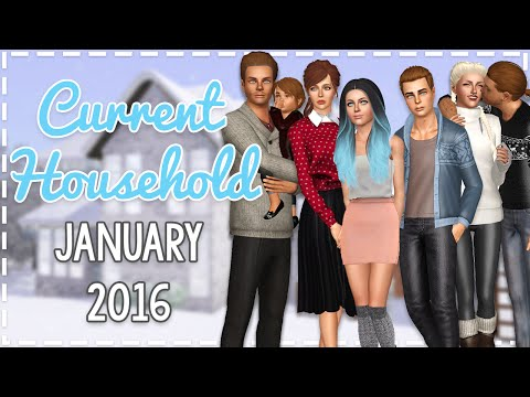 The Sims 3 Current Household: The Calvin Family (January 2016)