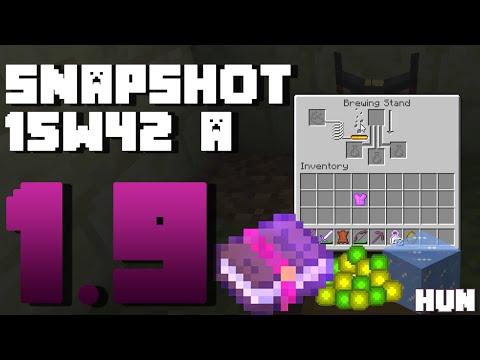 Minecraft - 1.9 Snapshot - 15w42 a - Fagy/Javító varázslat, megváltozott bájital készítés
