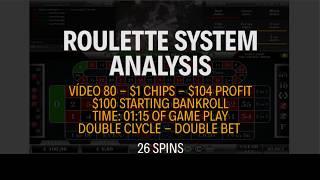 Winning $104 - Starting bankroll $100 - Vídeo 80