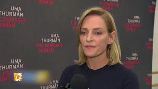 Beelden auto-ongeluk Uma Thurman tijdens opnames Kill Bill