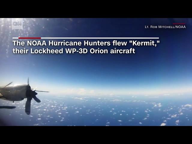 NOAA airplane flies into Hurricane Irma