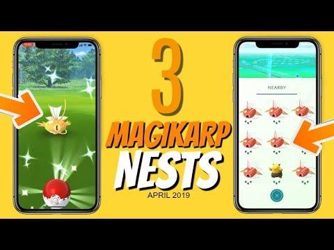 Top 3 Best Shiny Magikarp Nests in Pokemon GO | Coordinates 2019