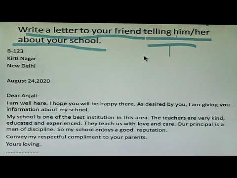 Letter To Your Friend Telling Him Her About Your School Class Vl Youtube