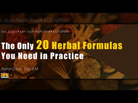 The Only 20 Herbal Formulas You Need in Practice