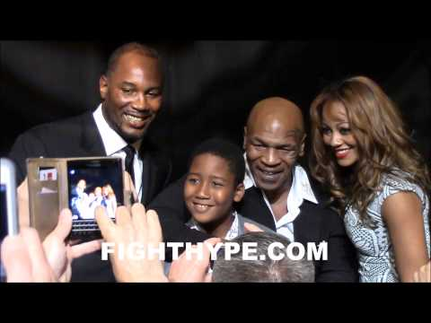 MIKE TYSON AND LENNOX LEWIS REUNITE AT NEVADA BOXING HALL OF FAME INDUCTION DINNER