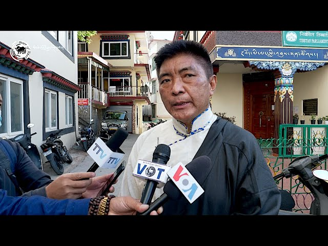 Election Commissioner Pesur Wangdue Tsering speaks to the press