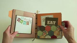 Thanksgiving Paper Bag Album | Scrapbook ideas | dezalyssdesigns