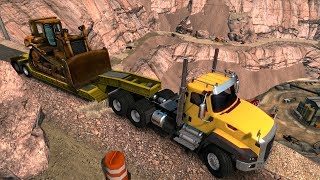 Caterpillar CT660 6X6 | Transportando un Bulldozer desde mina profunda