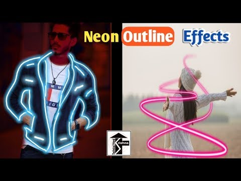 PicsArt Glow Neon Outline Effects And Neon Spril Editing Tips