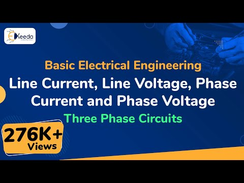 What is Line Current, Line Voltage Phase Current and Phase Voltage in Three Phase Supply