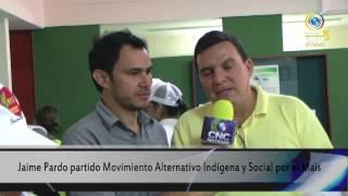 Jaime Pardo partido Movimiento Alternativo Indígena y Social por el Mais