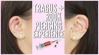 TRAGUS + ROOK PIERCING EXPERIENCE (Pain, Cost, Aftercare, etc.) | Catherine Mitchell