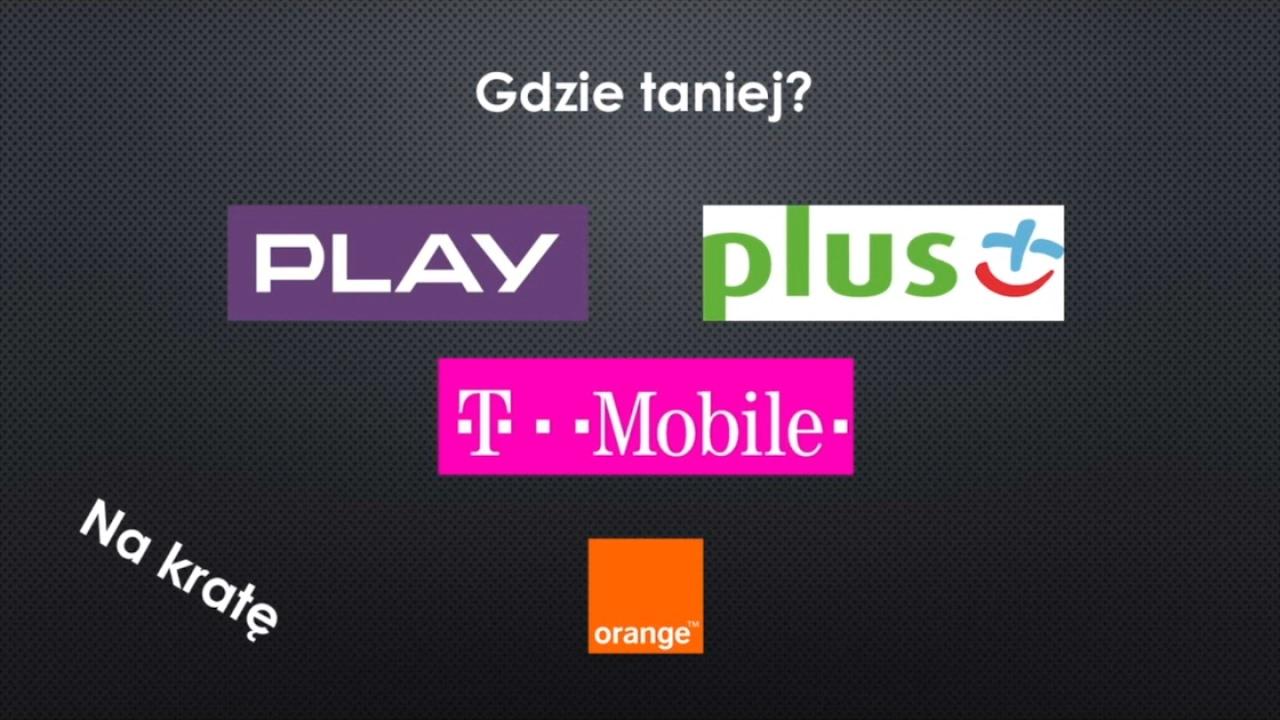 T Mobile Na Karte.Gdzie Taniej Którą Sieć Na Kartę Wybrać Play Plus Orange T Mobile Odc 2