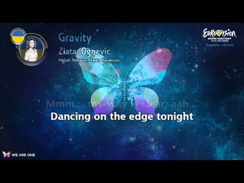 "Zlata Ognevich - ""Gravity"" (Ukraine) - Karaoke version"