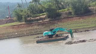 Excavator Berenang!!! Di waduk penjalin.. Brebes selatan