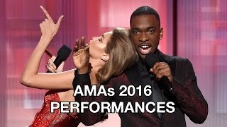 AMAs 2016 Full Performances: Ariana Grande, Green Day Trump Protest, Chainsmokers, 21 Pilots
